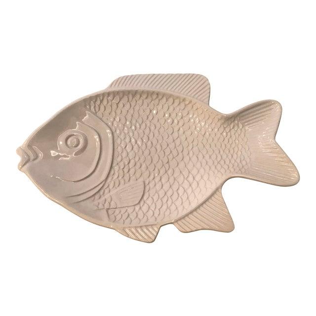 White Ceramic Fish Platter For Sale