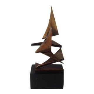 1960s Vintage Grag Studios Brutalist Abstract Bronze Metal Sculpture For Sale