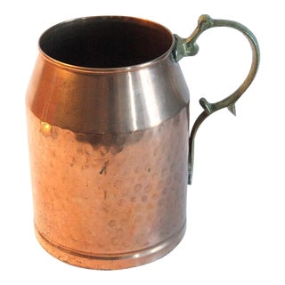 Vintage Solid Copper Stein