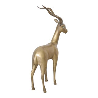 Extraordinary Huge Brass Ibex or Deer For Sale