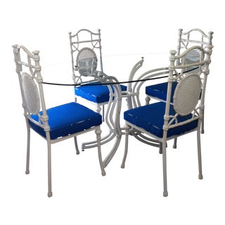 Kessler Faux Bamboo Patio Set For Sale