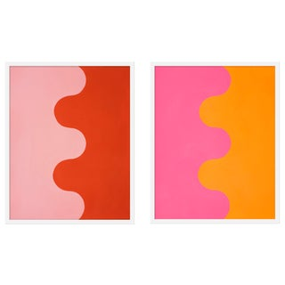 """Large """"Serpentines, Pair"""" Print by Stephanie Henderson, 50"""" X 31"""" - A Pair Preview"""