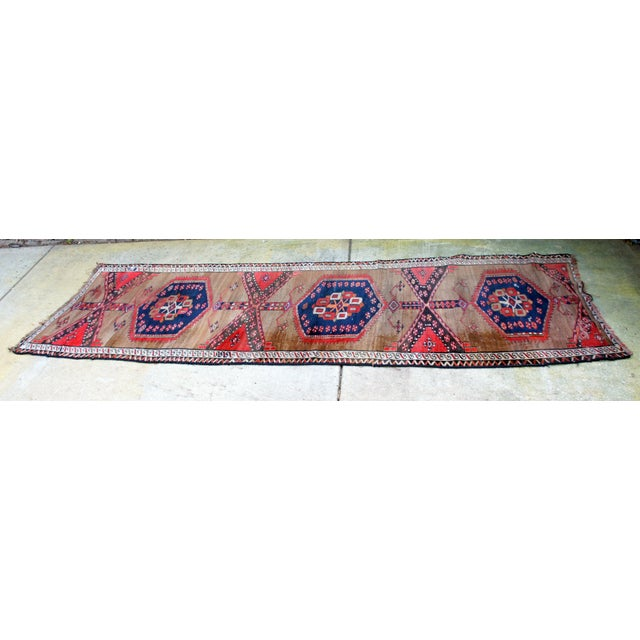 "Islamic Vintage Turkish Handknotted Anatolian Tribal Runner-3'4x11'2"" For Sale - Image 3 of 13"
