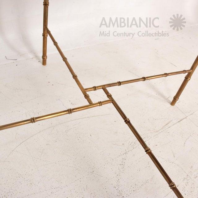 Pepe Mendoza Mexican Modernist Centre Table in Brass, Wood & Malachite, Pepe Mendoza Square For Sale - Image 4 of 11