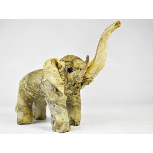 Vintage Handmade Crushed Oyster Shell Elephant Figurine For Sale - Image 4 of 8