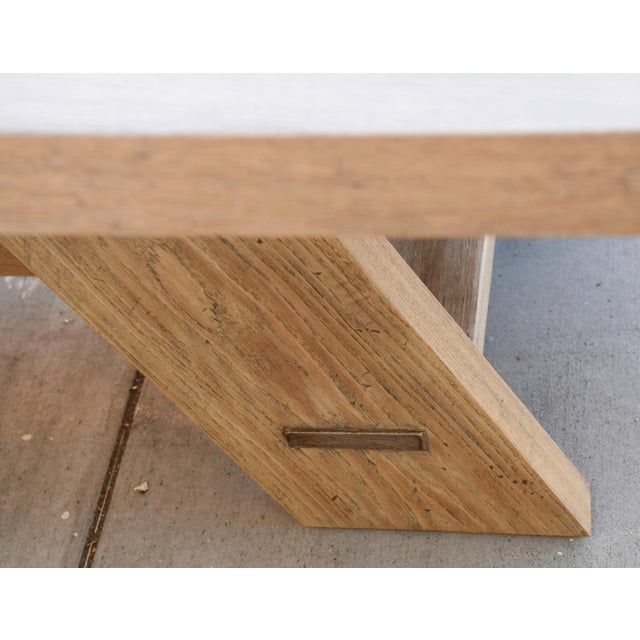 Wood Rustic Banquet Table Made From Rift Sawn White Oak For Sale - Image 7 of 13