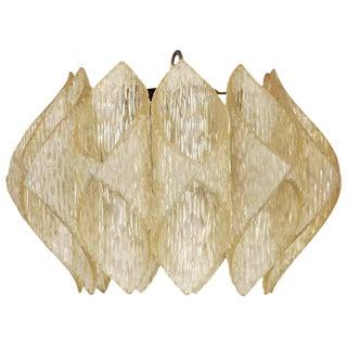 "Mid-Century Folded Lucite ""Origami"" Ceiling Pendant Light For Sale"