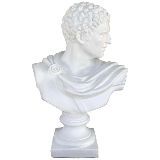 Italian White Lacquered Terracotta Bust of Apollo For Sale - Image 11 of 11