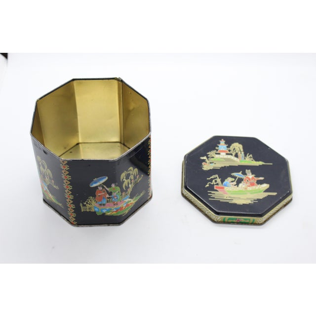 From the Tin Box company of America circa 1990s, originally founded in 1863 and named Daher, this charming octagonal...