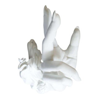 Large Hand Form Resin Cast Sculpture
