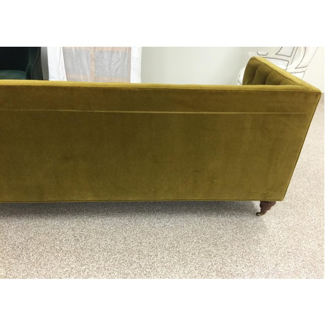 2010s Chartreuse Tufted Sofa For Sale - Image 5 of 6