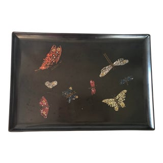 Mid-Century Butterflies Tray For Sale