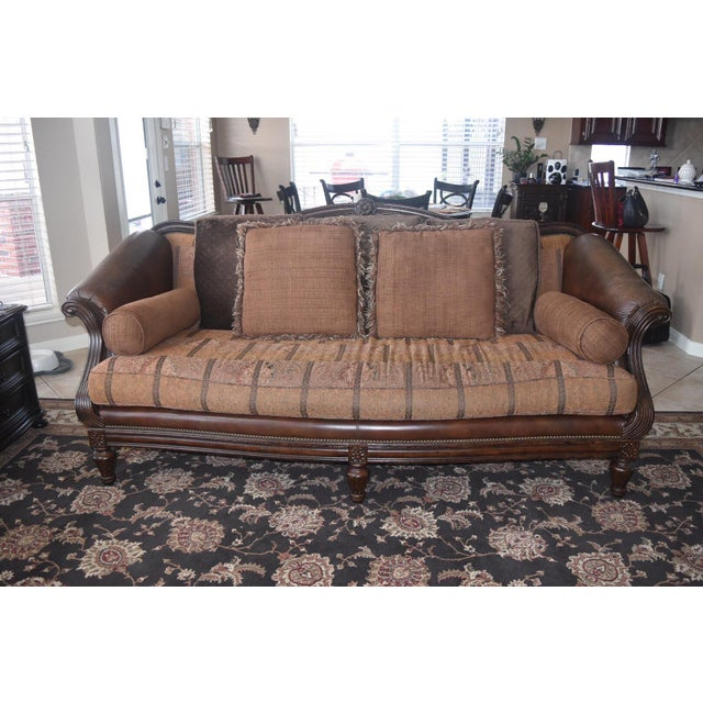 It is hard to part ways with this lovely sofa, but this Thomasville sofa is a little too formal for our active family.