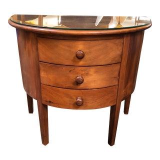 Americana Cherrywood Demilune Table