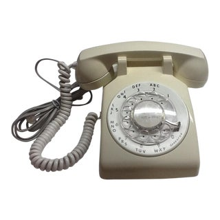 Vintage Rotary Dial Telephone White For Sale