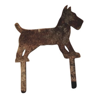 Vintage Scottie Terrier Cast Iron Boot Scrape For Sale
