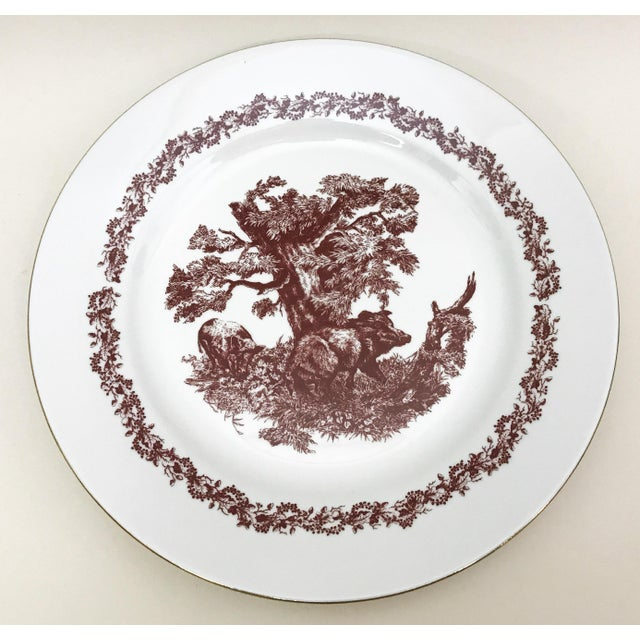 Brown Black Forrest Theme Jlmenau Graf Von Henneberg Dinnerware - 22 Pieces For Sale - Image 8 of 11