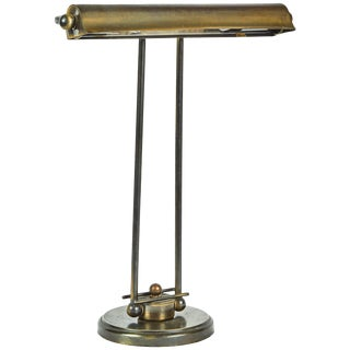 1940's English Desk Lamp in Brass For Sale
