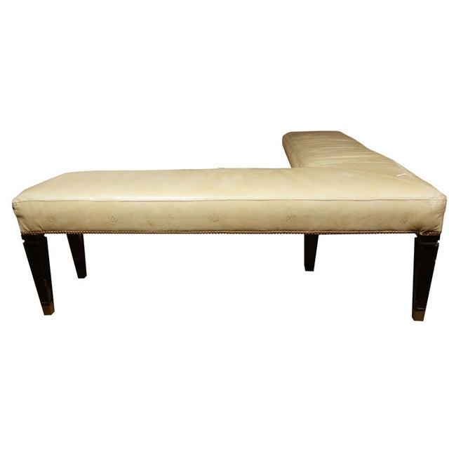 Maison Jansen Leather L Bench For Sale