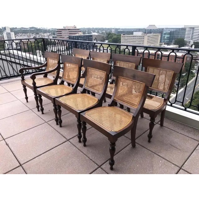 English Set of Eight Anglo-Indian Rosewood Regency Dining Chairs For Sale - Image 3 of 8