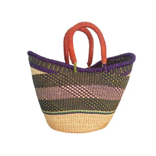 Tribal African Woven Basket For Sale