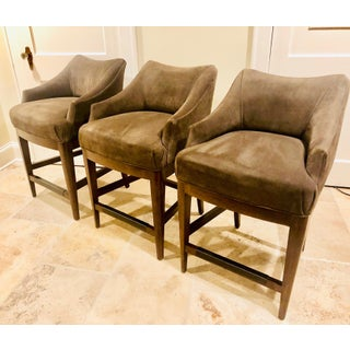 Vanguard Furniture Contemporary Suede Bar Stools -Set of 3 Preview