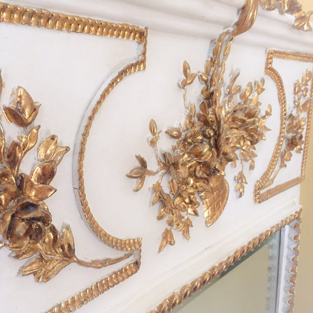 French White & Gilt Trumeau Mirror - Image 8 of 11