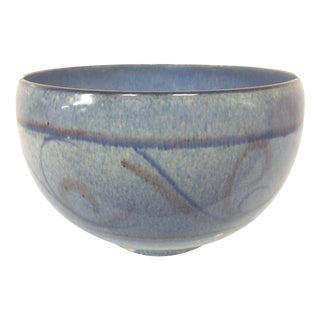 Edwin & Mary Scheier Blue Pottery Bowl For Sale