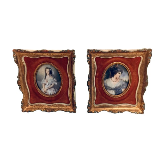 Metal Antique 19th Century European Prints in Gilt Frames - A Pair For Sale - Image 7 of 7