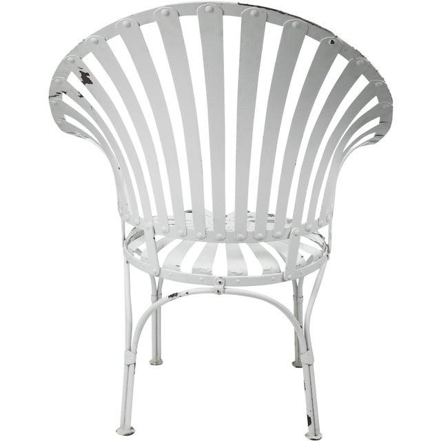 Francois Carre Vintage Fan Back Patio Armchair - Image 8 of 11