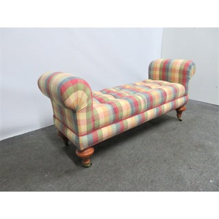 Brandywine Design Regency Style Plaid Tufted Bench Preview