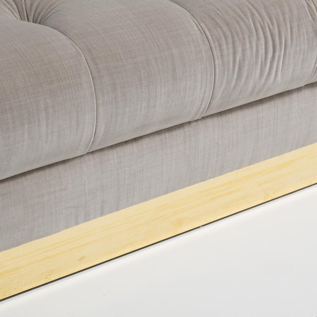 Brass Customizable The Deep Buttoned Sofa by Talisman Bespoke For Sale - Image 7 of 11