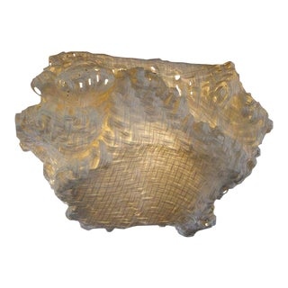 Gigantic Freeform Handwoven Paper Ceiling Light For Sale