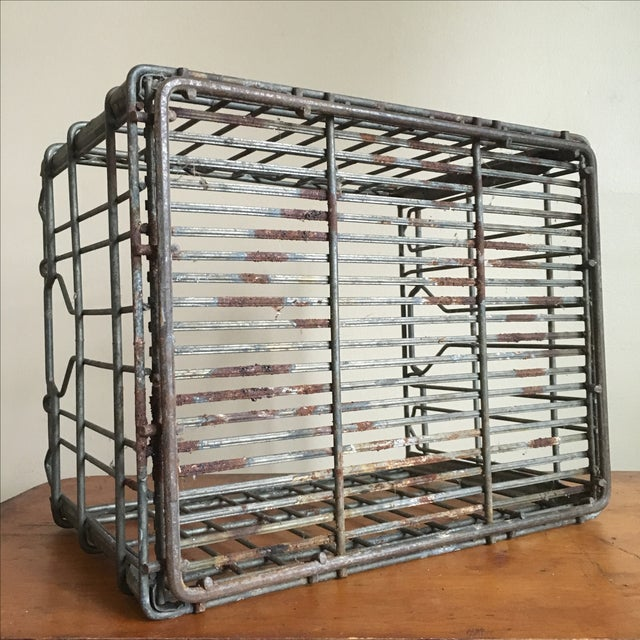 Vintage Tuscan Metal Milk Crate For Sale In New York - Image 6 of 6
