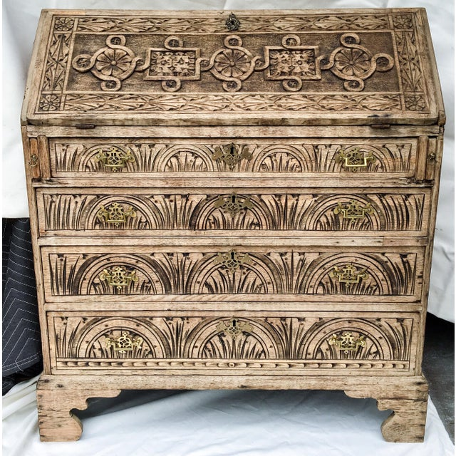 Antique English Oak Desk - Image 3 of 5
