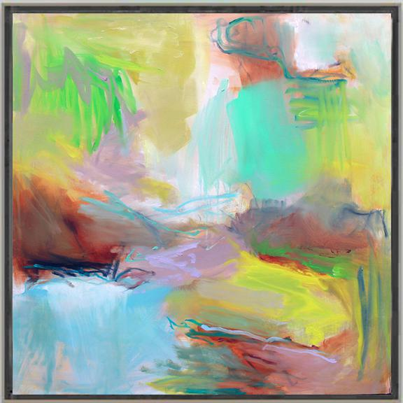 "Canvas ""Appalachian Trail"" by Trixie Pitts Large Abstract Oil Painting For Sale - Image 7 of 9"