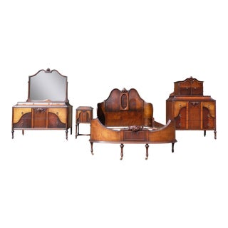 Antique H. Herrmann French Transitional Art Nouveau Bedroom Set For Sale