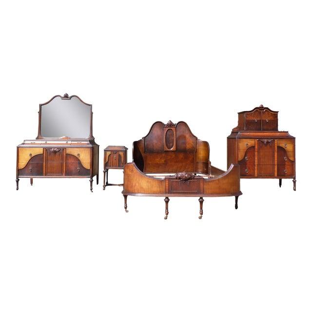 5bd96940cca Antique H. Herrmann French Transitional Art Nouveau Bedroom Set For Sale