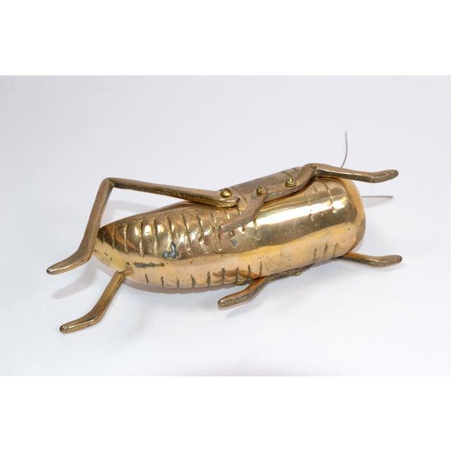 Metal Italian Mid-Century Modern Brass Grasshopper Sculpture, Animal Sculpture 1970 For Sale - Image 7 of 9