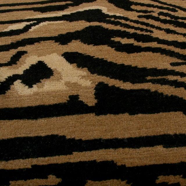Rug & Kilim Rug & Kilim's Tiger Pictorial Red Orange and Black Wool Rug For Sale - Image 4 of 6