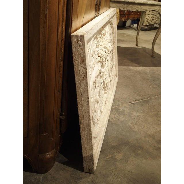 2010s Architectural Plaster and Wood Overdoor Panel From Provence, France For Sale - Image 5 of 9