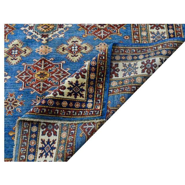 Afghan Afghan Super Kazak Rug- 5′7″ × 7′5″ For Sale - Image 3 of 4