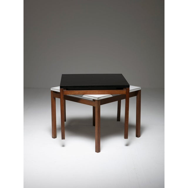 Mid-Century Modern Set of Two Side Tables by Florence Knoll for Knoll For Sale - Image 3 of 6