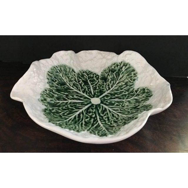 Bordallo Pinheira Cauliflower Majolica Bowl For Sale - Image 10 of 10