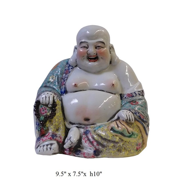 Chinese Porcelain Canton Happy Buddha Statue - Image 8 of 8