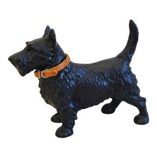 Vintage Cast Iron Dog Terrier Figure Doorstop