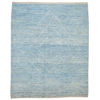 """21st Century Modern Moroccan-Style Rug, 9'2"""" X 11'4"""" For Sale"""