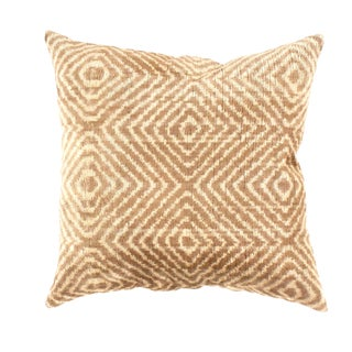 Contemporary Pasargad Oasis Collection Silk Velvet Ikat Pillow - 20ʺ × 20ʺ For Sale
