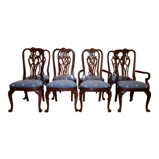 18th Century Traditional Ethan Allen Dining Chairs - Set of 8 For Sale