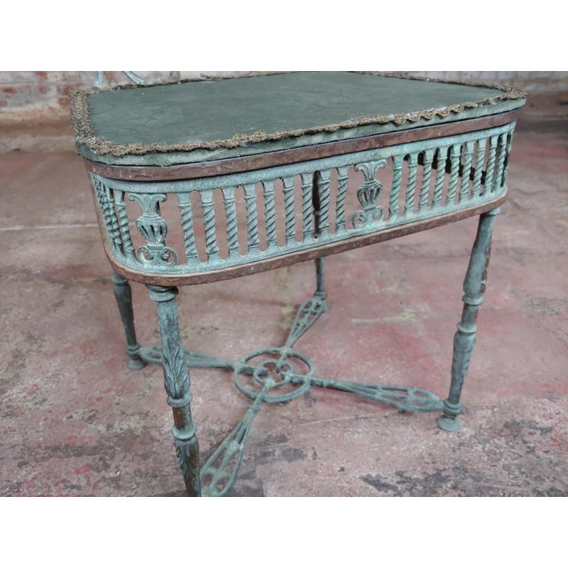 19th Century Bronze Vanity Chair W/ Lions Heads For Sale - Image 9 of 10